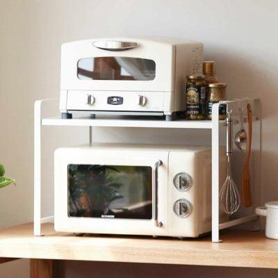 2-Tier Microwave Kitchen Rack Storage Countertop Shelf Toaster Style Degree Sg Singapore