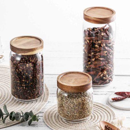 Scandinavian Airtight Glass Food Jar Holder Pantry Kitchen Snacks Style Degree Sg Singapore