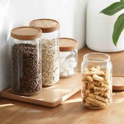 Scandinavian Airtight Glass Food Jar Storage Container Kitchen Accessories Style Degree Sg Singapore