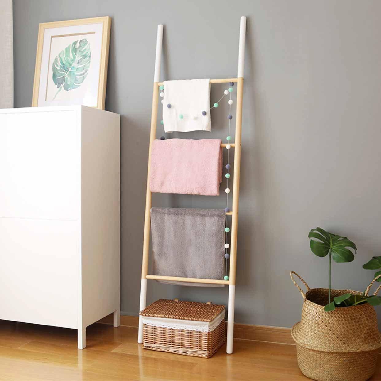 Scandinavian Ladder Towel Hanger Bathroom Living Style Degree