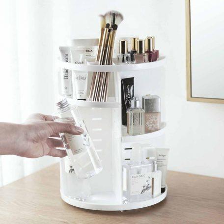 Snowy 360° Rotating Makeup Organizer Cosmetic Desk Organiser Style Degree Sg Singapore