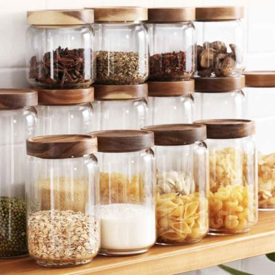 Scandinavian Airtight Glass Food Jar Holder Pantry Kitchen Snacks Style Degree Sg Singapore