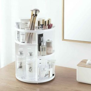 Snowy 360° Rotating Makeup Organizer Cosmetic Desk Organiser Style Degree Sg Singapore