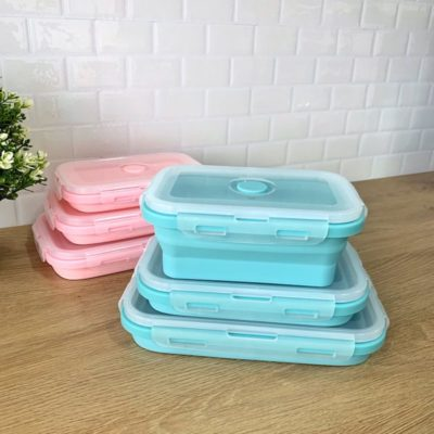 Silicone Collapsible Food Container (3pc Set)