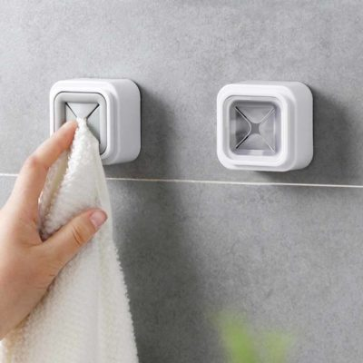 Anti-slip Cloth & Towel Wall Hanger Bathroom Kitchen Towel Style Degree Sg Singapore
