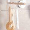 Scandinavian Under Cabinet Towel & Mugs Holder (With Hooks) Kitchen Towel Accessories Organizer Organiser Style Degree Sg Singapore