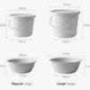 Minimalist Pail & Bucket (3pc Set) Wash Basin Laundry Cleaning Bathroom Style Degree Sg Singapore