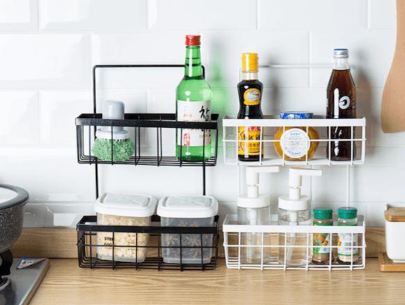 Kitchen Countertop Storage Rack Stylemag Style Degree