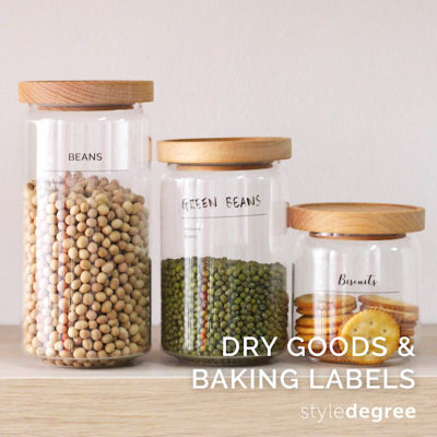 Pantry Sticker Labels (Dry Goods & Baking)
