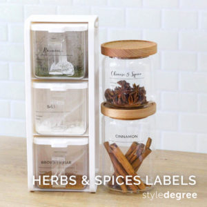 Pantry Sticker Labels (Herbs & Spices)