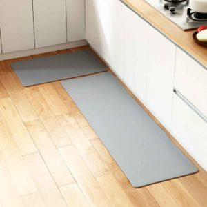 Leathery Anti-slip Kitchen Floor Mat Mats Waterproof PU Leather Carpet Bathroom Style Degree Sg Singapore