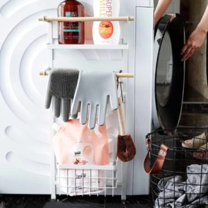 Scandinavian Washing Machine Magnetic Rack Laundry Basket Organizer Holder Style Degree Sg Singapore