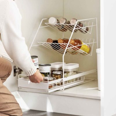 Sliding Under Sink & Countertop Storage Organizer Kitchen Organiser Box Style Degree Sg