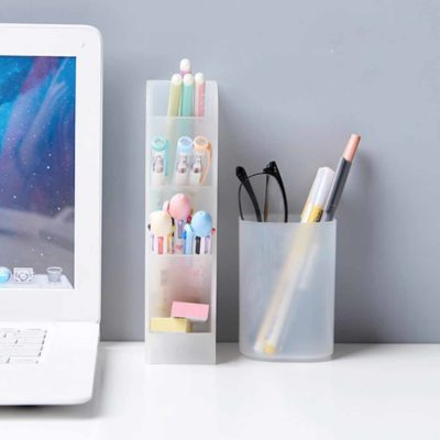 2-Way Stationery & Cosmetics Desk Organizer Pen Holder Study Desk Organiser Style Degree Sg Singapore