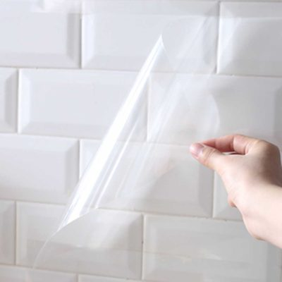 Clear Kitchen Backsplash Protector Wall Cover Sticker Tiles Style Degree Sg