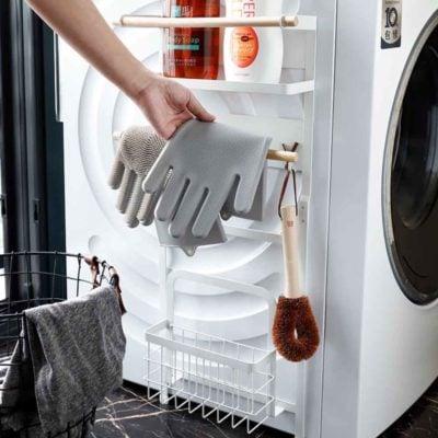 Scandinavian Washing Machine Magnetic Rack Laundry Basket Organizer Holder Style Degree Sg Singapore
