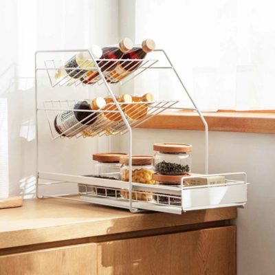 Sliding Under Sink & Countertop Storage Organizer Kitchen Rack Organiser Box Style Degree Sg
