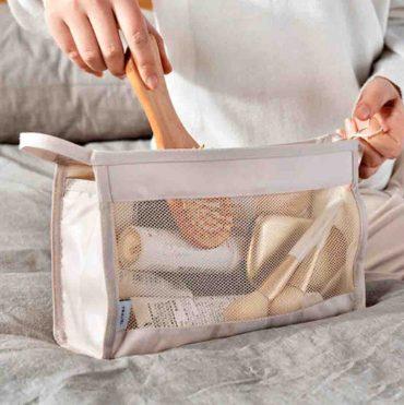 Classica Cosmetics Triangle Travel Pouch Organizer Organiser Luggage Style Degree Sg Singapore