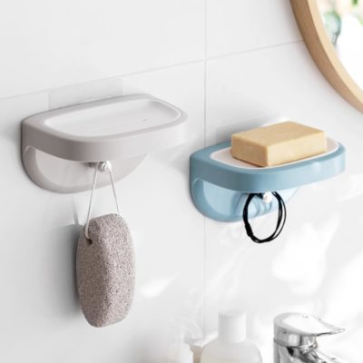 Easy Soap Wall Mount Holder Soap Bar Container Bathroom Wall Hanging Hook Style Degree Sg Singapore