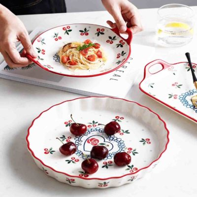 Vintage Cherry Dinnerware Plates & Platters Dining Tableware Style Degree Sg Singapore