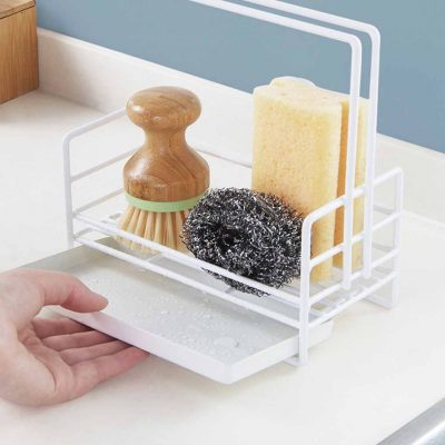 Grande Kitchen Sponge & Towel Holder Basin Organizer Organiser Drainer Style Degree Sg Singapore