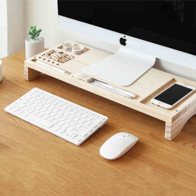 Woody Monitor Riser Stand & Desk Organizer
