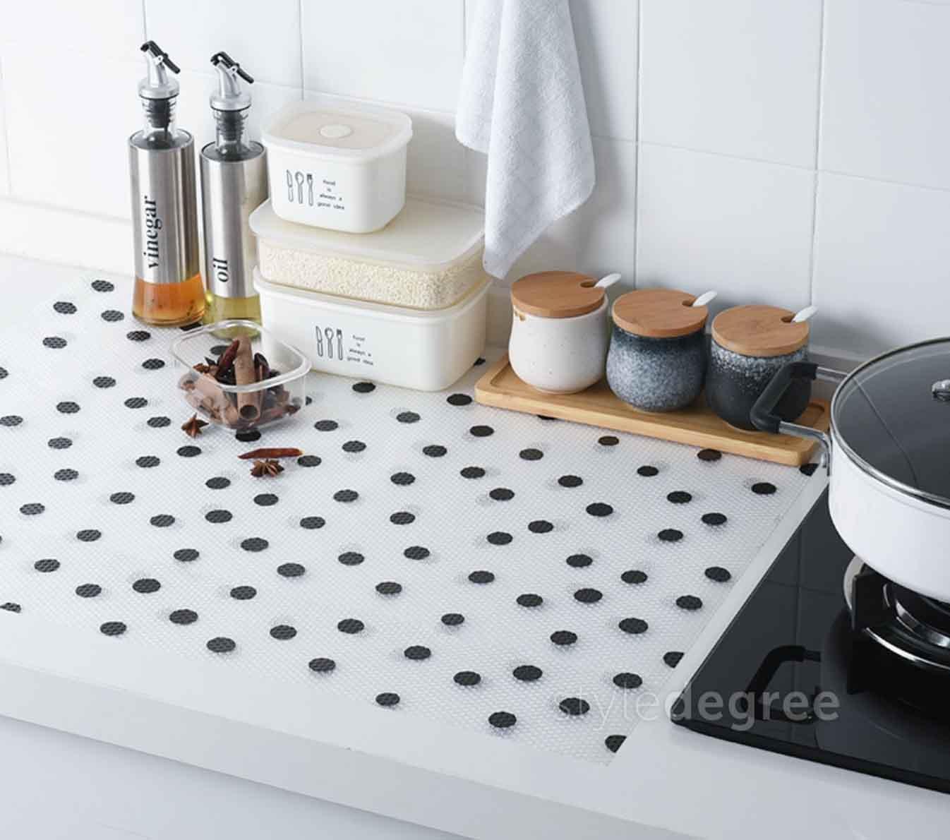 What Is The Best Shelf Liner For Kitchen Cabinets: Pattern Kitchen Shelf & Drawer Liner Mat