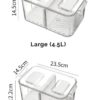 Klear 2-Way Fridge Storage Box Food Container Refrigerator Chiller Vegetable Holder Style Degree Sg Singapore