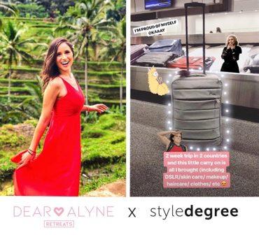 dear alyne retreats, secrets to packing light, dear alyne x style degree