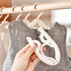 Foldable Travel Clothes Hangers (3pc Set) Hanger Laundry Hanging Organizer Organiser Style Degree Sg Singapore