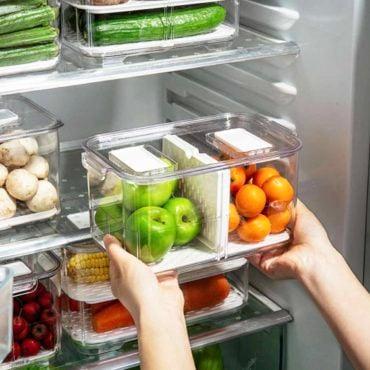 Klear 2-Way Fridge Storage Box Food Container Refrigerator Chiller Vegetable Holder Style Degree Sg Singapore
