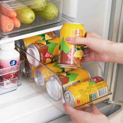 Klear Can Drink & Beer Fridge Organizer Storage Container Holder Style Degree Sg Singapore