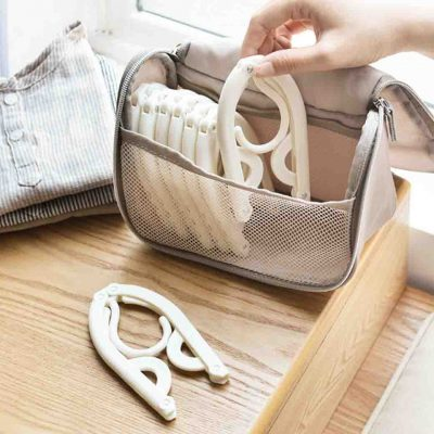 Foldable Travel Clothes Hangers (3pc Set) Hanger Laundry Hanging Organizer Organiser Style Degree Sg Singapore