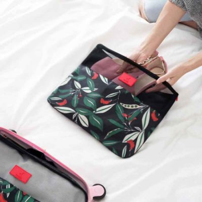 Le Fleur Luggage Organizer (6pc Set) Travel Organiser Pouch Bag Style Degree Sg Singapore