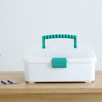 Mini 2-Tier First Aid Medicine Box Pill Medication Storage Container Style Degree Sg Singapore