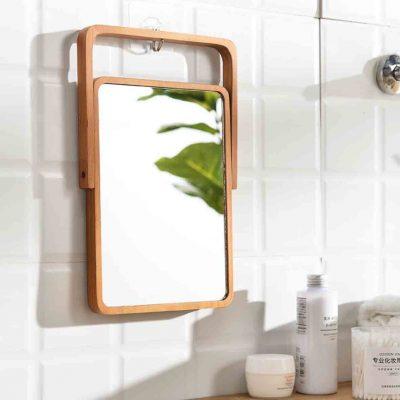 Woody Tabletop Vanity Mirror Cosmetic Makeup Desk Style Degree Sg Singapore