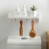 Minimalist Bathroom Wall Holder (With Hanging Hooks) wall-mounted soap bottle