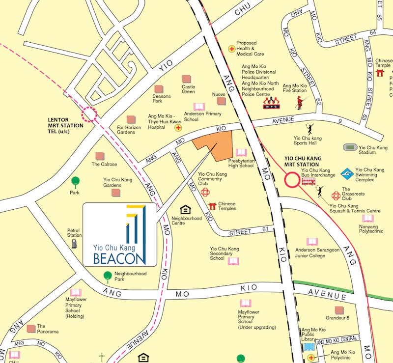 November 2019 BTO Ang Mo Kio Location map