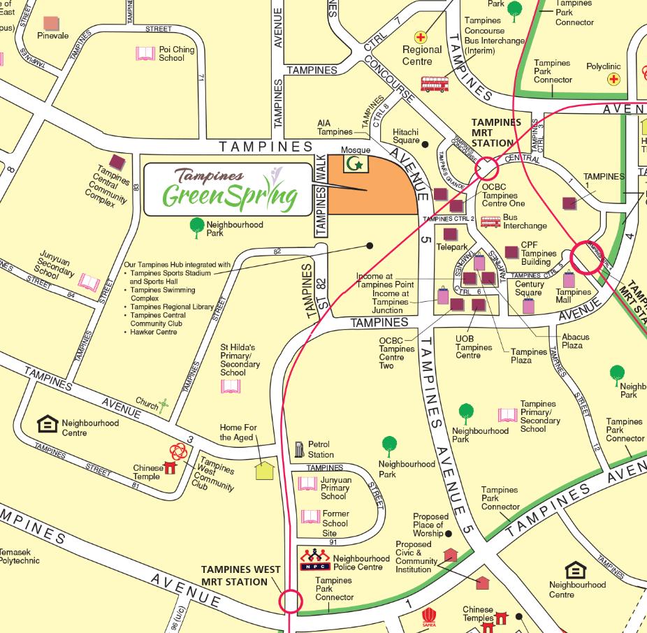 November 2019 BTO Tampines Location map
