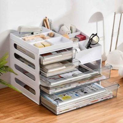 Customisable Stationery & Document Desk Organizer Files Homework Holder Style Degree Sg Singapore