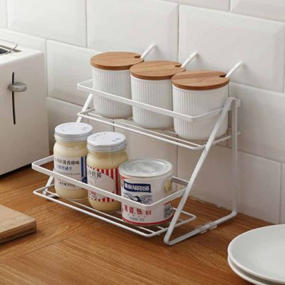 Grande 2-Tier Spice & Condiment Rack Holder Organizer Organiser Style Degree Sg Singapore