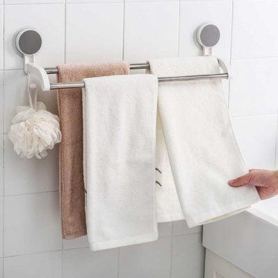 Minimalist 2-Bar Bathroom Towel Rail Holder Hanger Toilet Style Degree Sg Singapore