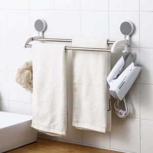 Minimalist 2-Bar Bathroom Towel Rail Holder Hanger Toilet Style Degree Sg Singapore