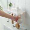 Minimalist Bathroom Wall Holder (With Hanging Hooks) Toilet Storage Style Degree Sg Singapore