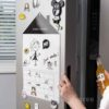 Schedully Fridge Magnetic Writing Whiteboard Kitchen Board Wall Style Degree Sg Singapore