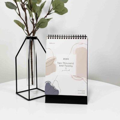 Artisan 2020 Desk Calendar Planner Stationery Style Degree Sg Singapore