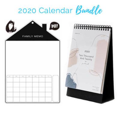2020 Calendar Bundle Set Planner Fridge Magnetic Whiteboard