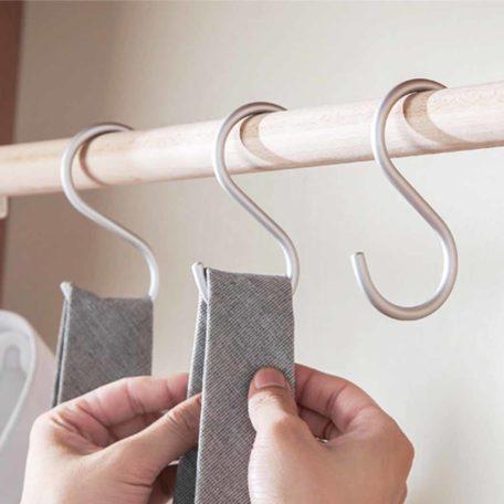 Aluminium S Hook (3pc Set) Hanging Hooks Wall Holder Style Degree Sg Singapore