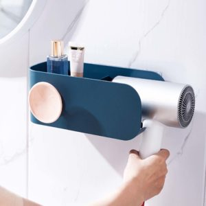 Eclectic Hair Dryer Wall Shelf (With Cable Organizer) Hanging Holder Style Degree Sg Singapore