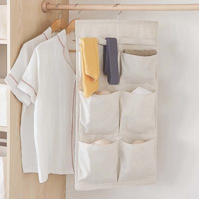 Pockets 2-Sided Wardrobe Hanging Organizer Closet Undergarment Tie Belt Socks Holder Style Degree Sg Singapore